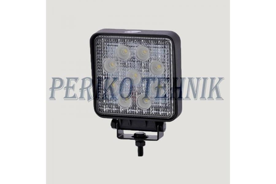 Töötuli LED 27W (9x3W) 9-32V, kandiline (KAMAR)