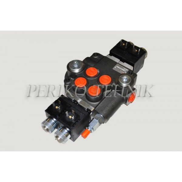 "Hydraulic valve 80L/min 2-section (P-A-B 1/2""; T 3/4"") electrical, 24V (BADESTNOST)"