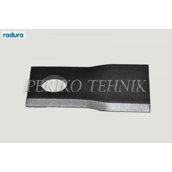 Rootorniiduki tera d=21 120x48x4 mm, parem, Pöttinger 434976 (RADURA)