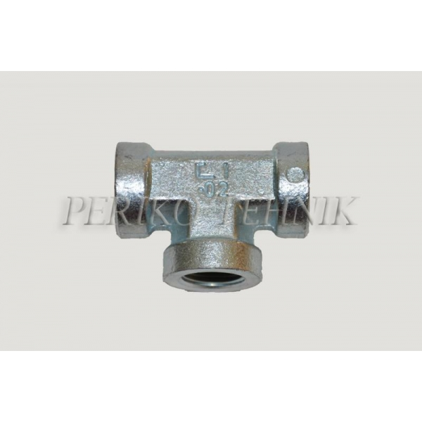 Tee Fixed Female Adapter BSPP 3/4