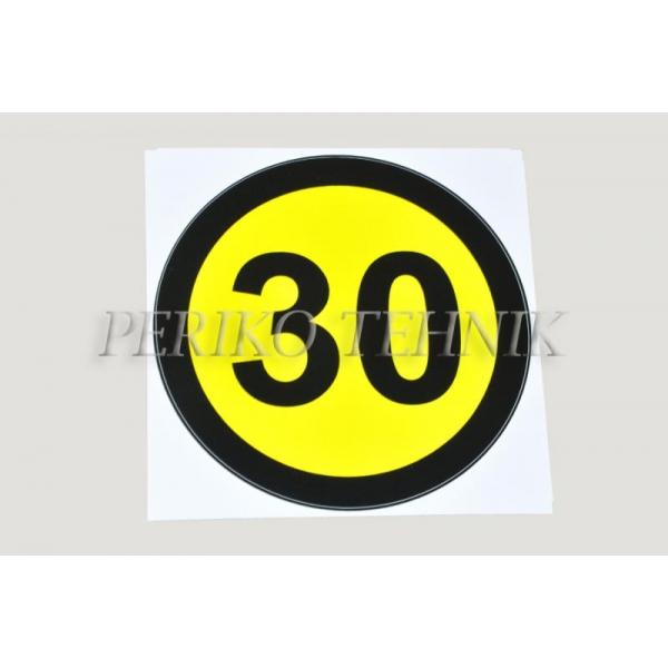 Kleebis kiiruse piirang 30