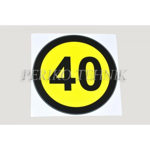 Kleebis kiiruse piirang 40