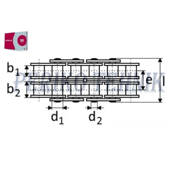 Roller Chain 10B-2 15,875 mm (5 m) (RENOLD SD)