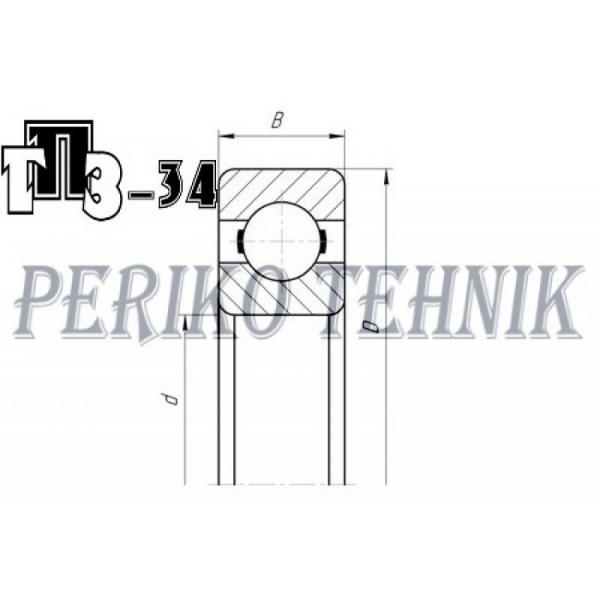 Deep Groove Ball Bearing 6205 P6 (205) (GPZ-34)