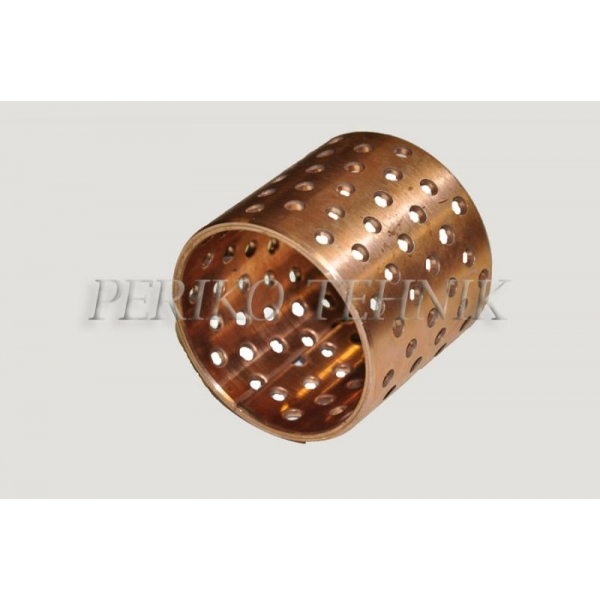Wrapped Bronze Bearing with Holes BK092 - Ø50x60 mm