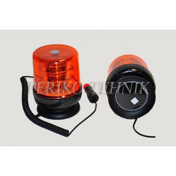 Amber Beacon LED 12/24V, 18x3W, magnetic base