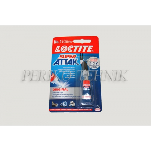 Liim Super Attak Loctite, 3g