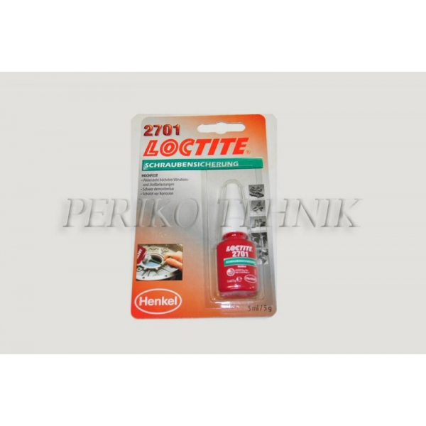 Keermeliim 2701 (suur tugevus), 5 ml (LOCTITE)