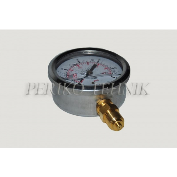 "Pressure Gauge DN63 0-160 bar, 1/4"" bottom fixing"