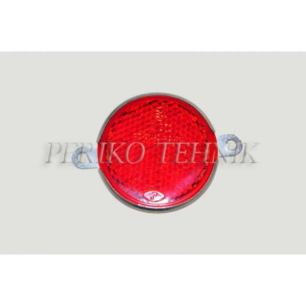 Reflector red, round, 2 fixing holes FP-310