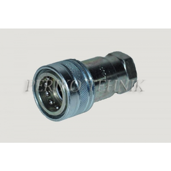 "Female quick-coupling ISO-A DN06, BSP 1/4"" female thread"