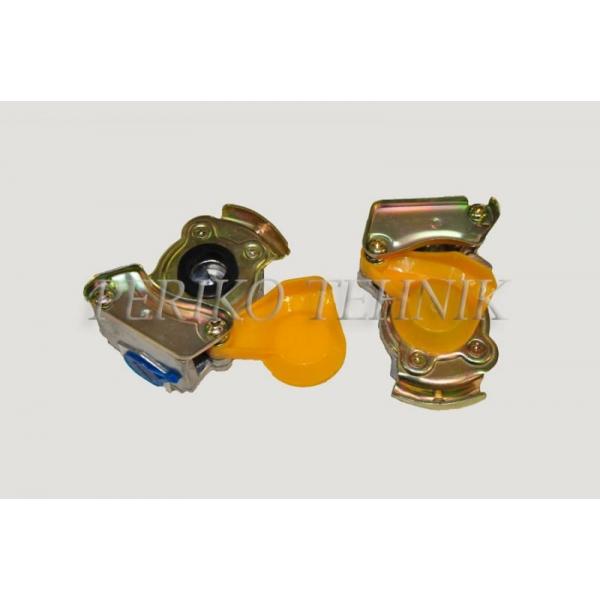 Õhkpiduri ühendus klapita, kollane M16x1,5