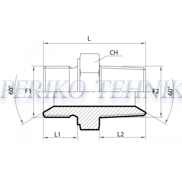 Adapter Male BSPP-Male BSPT 1/4""