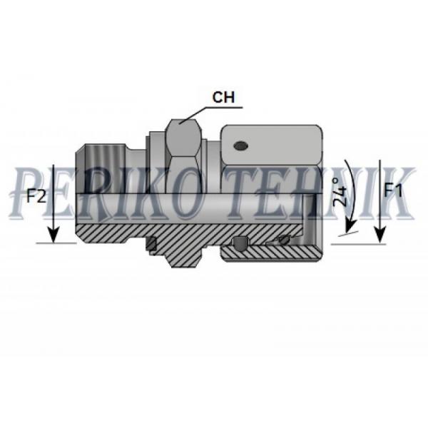 """Nippel mutriga BSP 1/2"""" vk - M22x1,5 15L sk"""