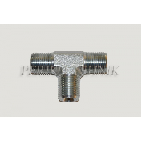 """Tee Male Adapter BSPP 3/8"""""""