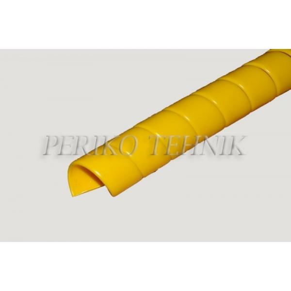 Voolikukaitse kollane HDPE 13mm (13-16mm)