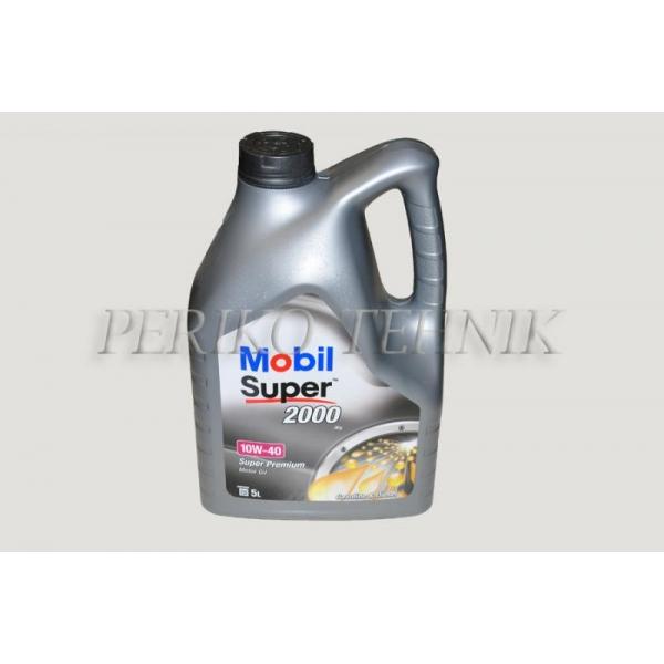 Mootoriõli Super 2000 10W-40 (poolsünt.) 5 L (MOBIL)