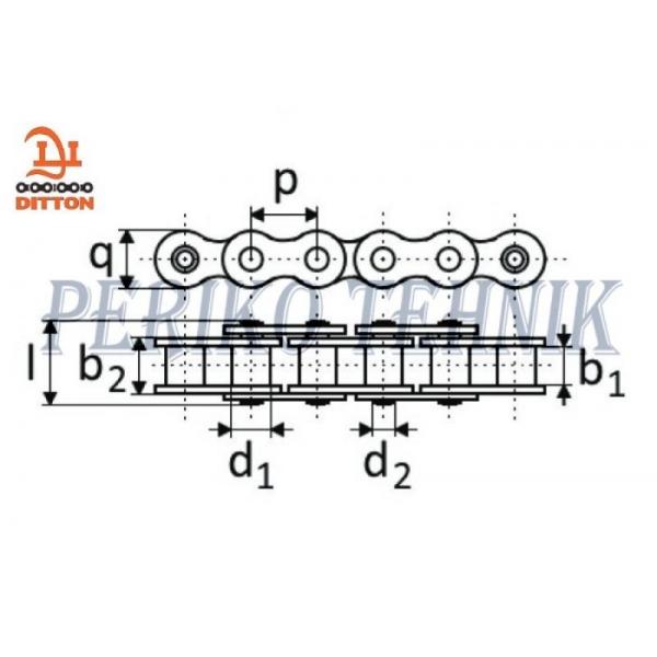 Rullpukskett 08A-1 12,7 mm (2 meetrit) (DITTON)