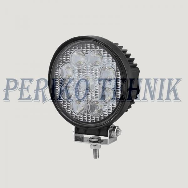 Töötuli LED 27W (9x3W) 9-32V, ümar (KAMAR)