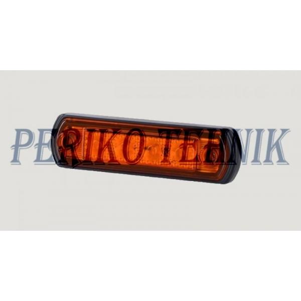 Ääretuli LED 12/24 V, piklik, oranz (LD676) (HORPOL)