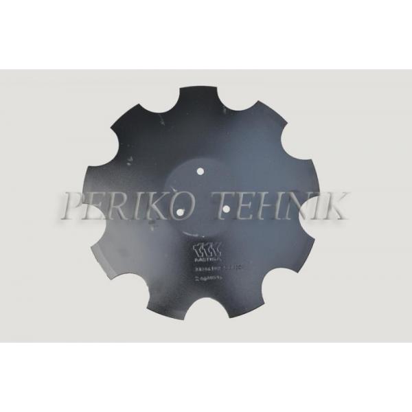 Randaali ketas HORSCH 23246102 (460x4 mm, 3 ava) hambuline (METISA)