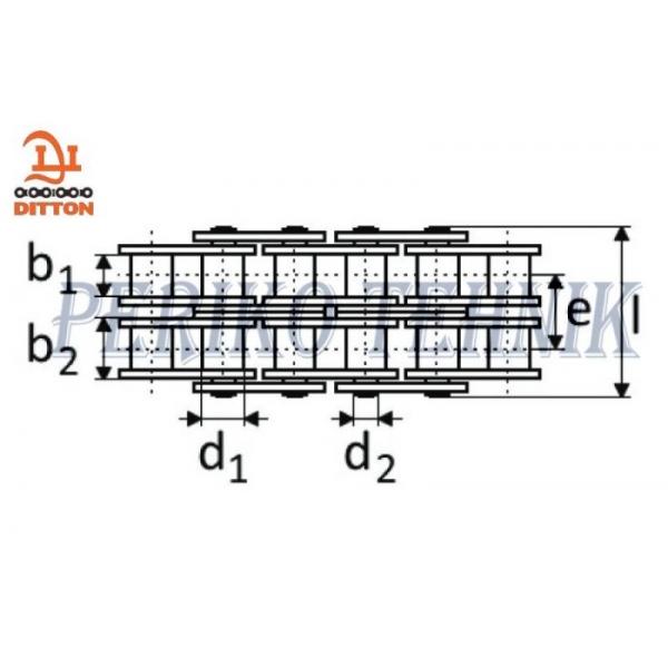 Rullpukskett 16A-2 2-realine 25,4 mm (2 meetrit) (DITTON)