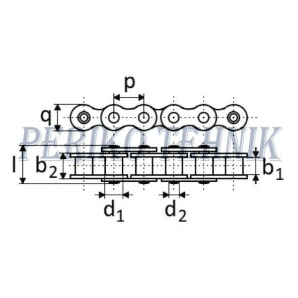 Rullpukskett 16A-1H (80H) 25,4 mm (5 meetrit) (KOMES)