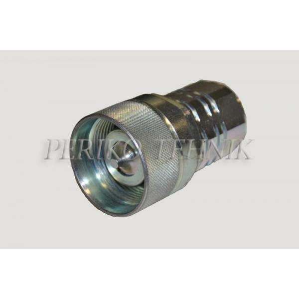 """Kiirliide keermega ISO-14541 DN19, BSP 3/4"""" pistik, rihveldatud (surve all ühendatav)"""