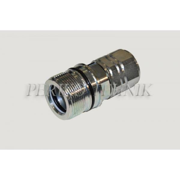 """Kiirliide keermega ISO-14541 DN19, BSP 3/4"""" pesa (surve all ühendatav)"""