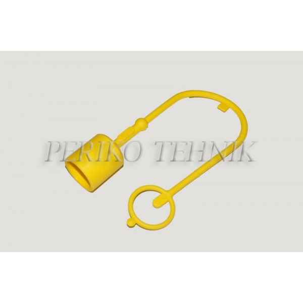 """Protective Cap for Male Quick-coupling ISO 12.5 (1/2"""") (yellow)"""