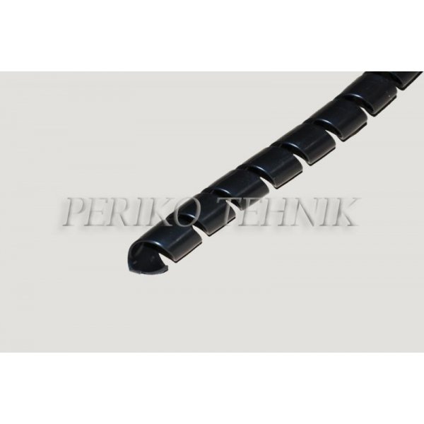 Voolikukaitse must HDPE 09mm (09-13mm)