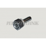 Straight female fitting with cone 24°, o-ring heavy series M18x1,5 - DN10