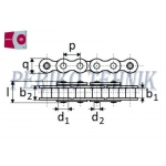 Roller Chain 20B-1 31,75 mm (2,5 m) (RENOLD SD)