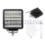 Töötuli LED 30W (30x1W) 12/24V, kandiline, lülitiga (KAMAR)
