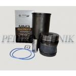 Kolvi-hülsigrupp EKSPERT D-240-1000108, 2 õlirõngast (kolb+hülss+rõngad+sõrm+stopperid) (KOSTROMA)