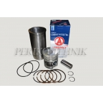 Engine repair kit D-50, 2 oil rings, (piston+liner+piston rings+piston axle+circlips) (ZAVOD DVIGATEL)