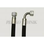 """Hydraulic hose BSP 1/4"""", DN06, 400 bar, 0,5 m 90°"""