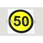 Kleebis kiiruse piirang 50