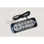 LED Strobo Lamp (amber), 12xLED, slim (AGH)