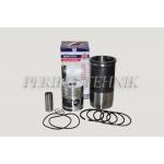 Engine Repair Kit D-240, 2 oil rings, (piston+liner+piston rings+piston axle+circlips) (ZAVOD DVIGATEL)