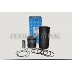 Kolvi-hülsigrupp D-240, 2 õlirõngast (kolb+hülss+rõngad+sõrm+stopperid+hülsitihendid) (THM)