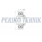 Self-Aligning Double Row Ball Bearing 1306 K+H306 (11305)