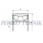 Double Row Angular Contact Ball Bearing 256907 (PLC14-24)(34x64x37) Respo Trailer