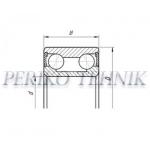 Double Row Angular Contact Ball Bearing 3206 2RS P0 (5206) (GPZ-34)