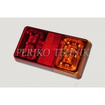 Rear lamp 16xLED 12/24V, red/yellow lens