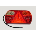 Rear Lamp (RH) 32xLED 12/24V, red/yellow/white, with triangle