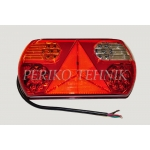 Rear Lamp (LH) 32xLED 12/24V, red/yellow/white, with triangle