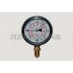 "Pressure Gauge DN63 -1 - +5 bar, 1/4"" bottom fixing"