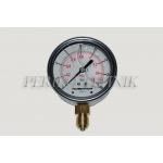 "Pressure Gauge DN63 0-16 bar, 1/4"" bottom fixing"