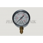 "Pressure Gauge DN63 0-25 bar, 1/4"" bottom fixing"